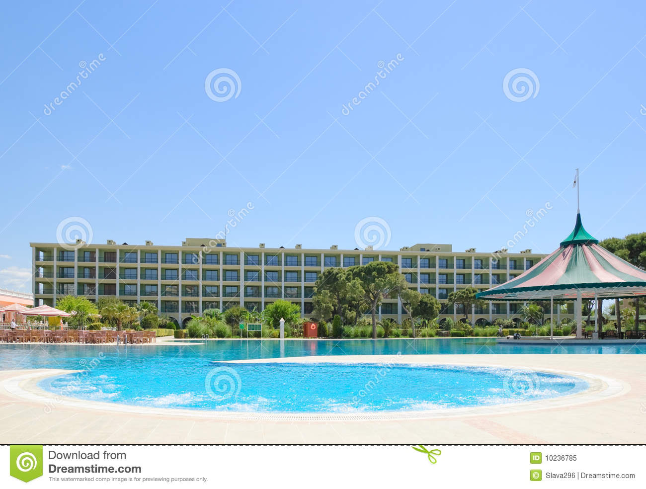 Swimming pool area with open air jacuzzi royalty free for Swimming pool area