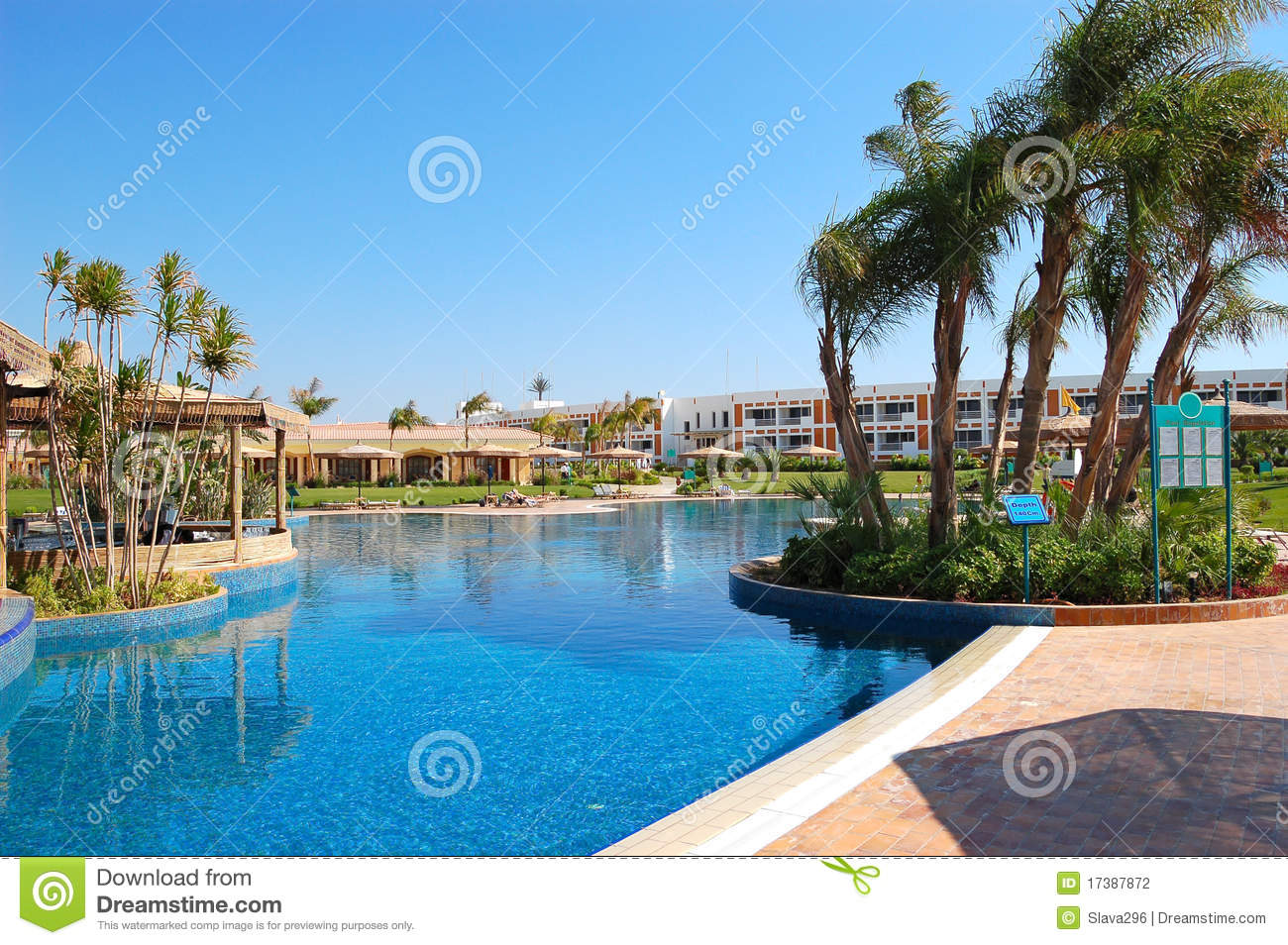 Swimming pool area at vip villas stock photography image for Swimming pool area