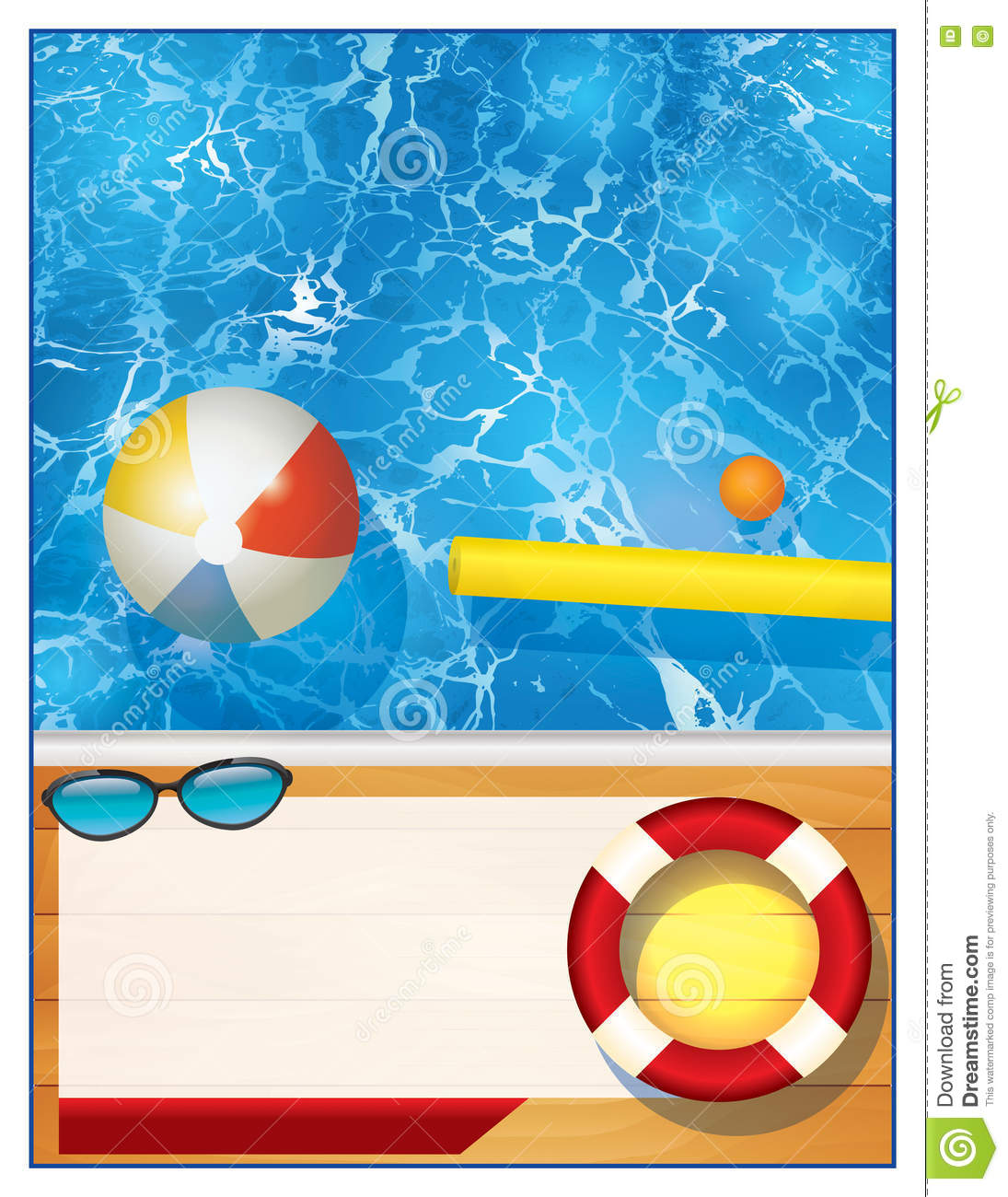 Swimming pool background clipart