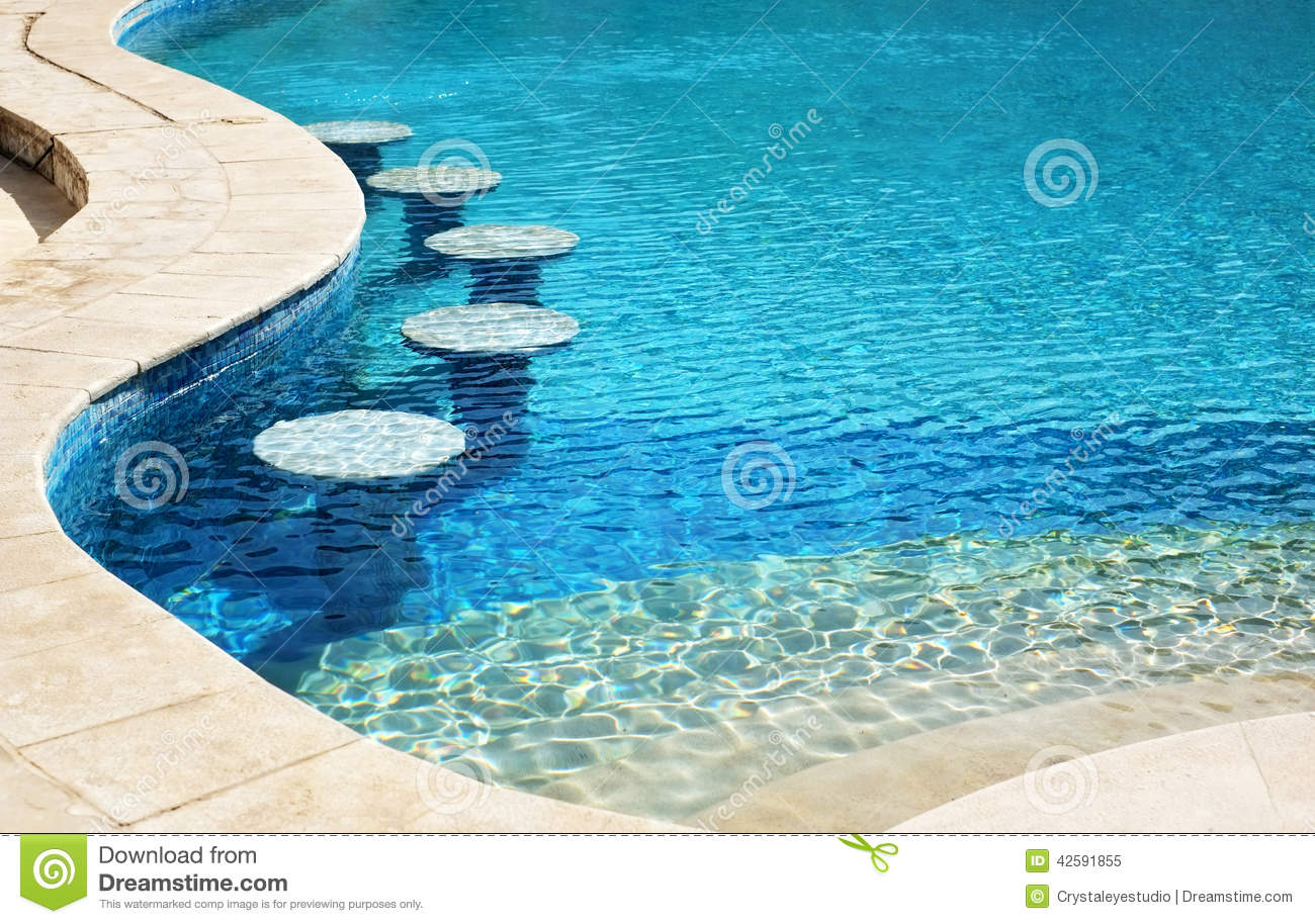 Swimming pool bar area with seats underwater stock image - How to make swimming pool water blue ...