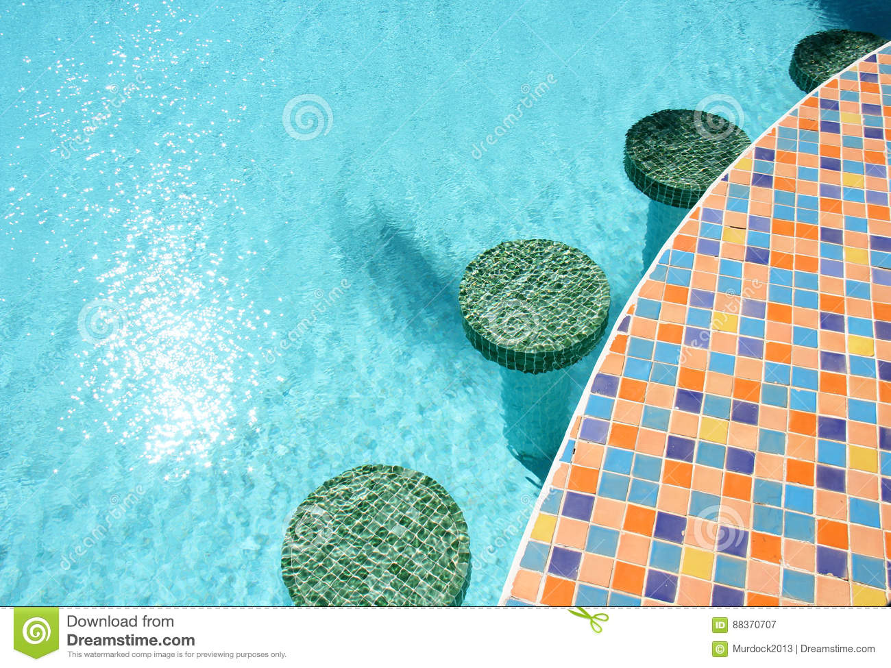 Swimming pool bar stools stock image. Image of relax - 88370707