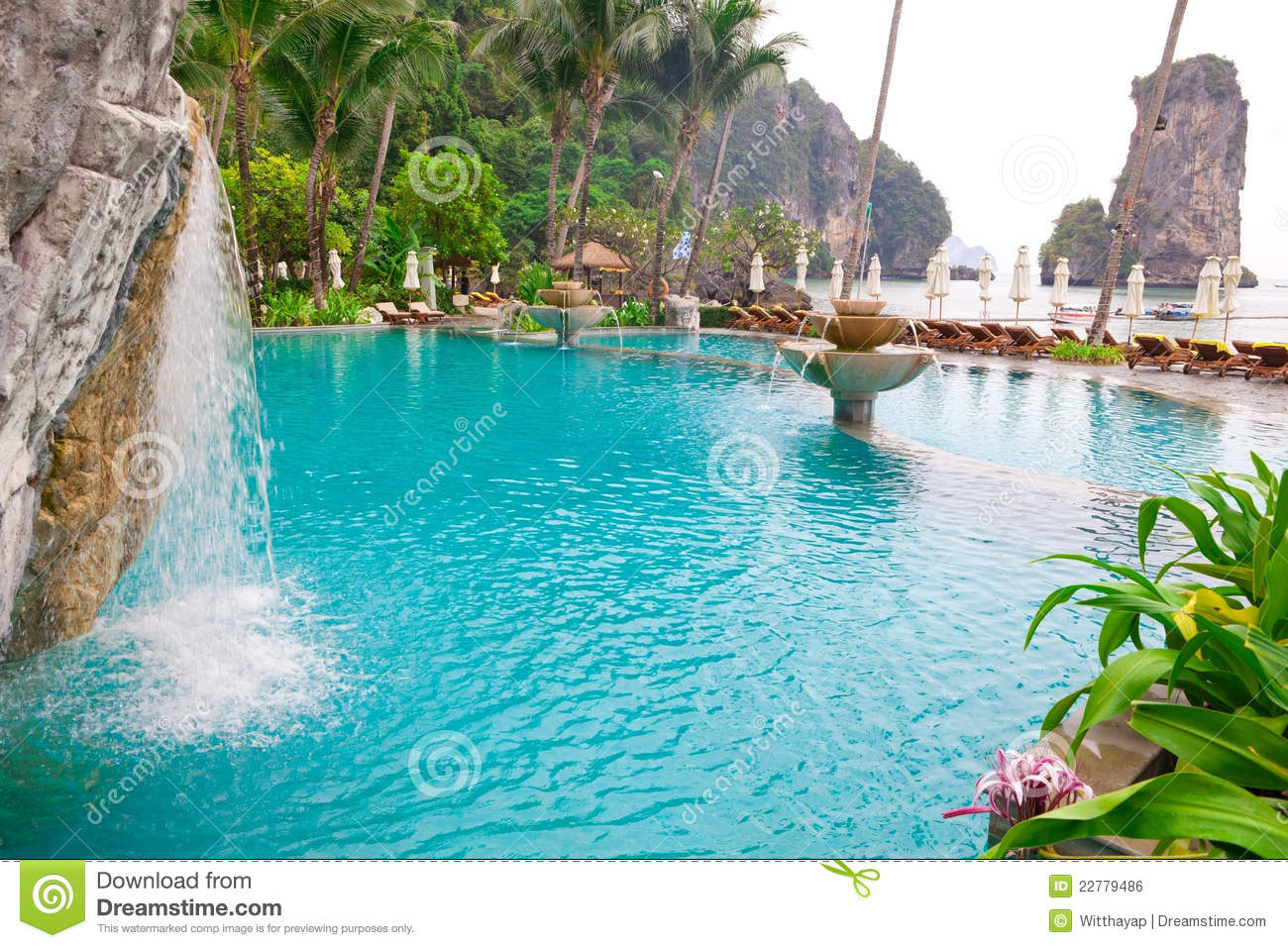Swimming Pool On The Beach Royalty Free Stock Image Image 22779486