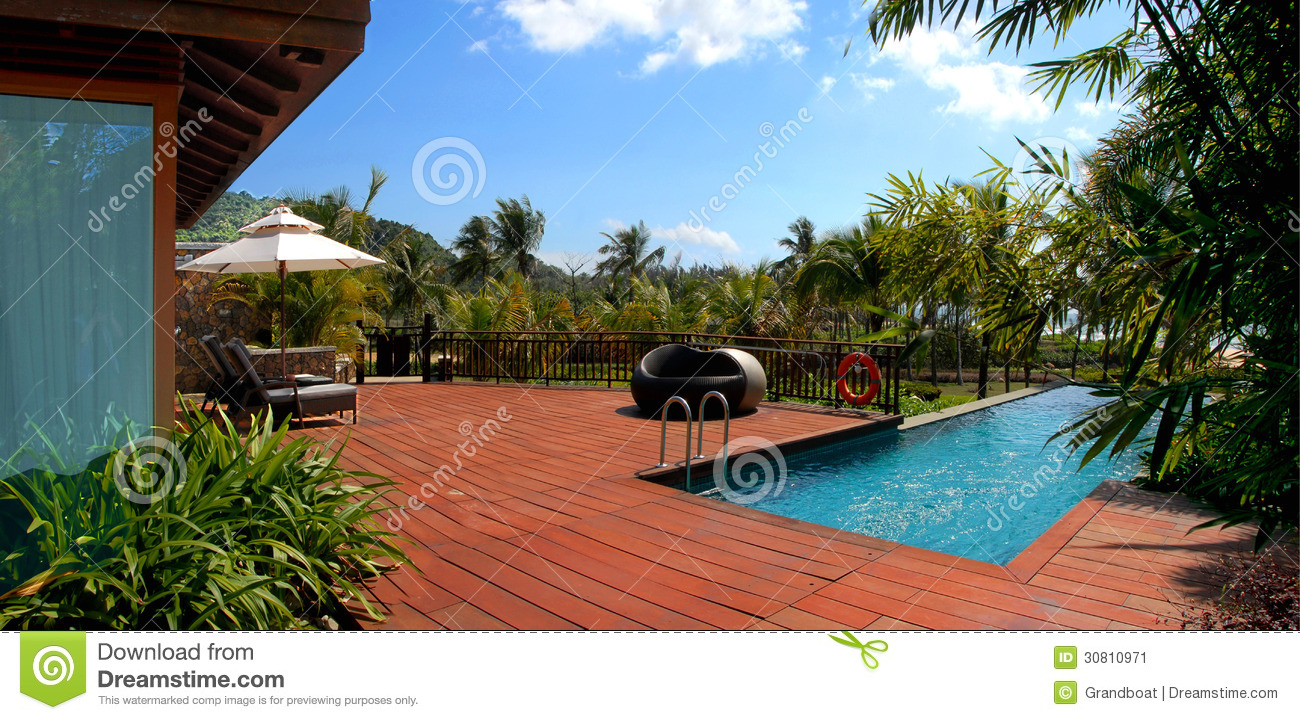 Swimming pool beautiful natural scenery stock image image