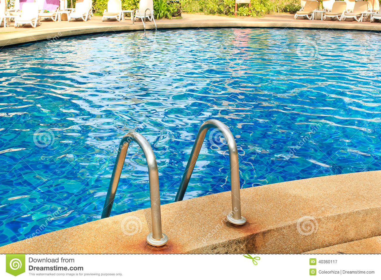 Swimming pool stock photo image 40360117 for Why is swimming pool water blue