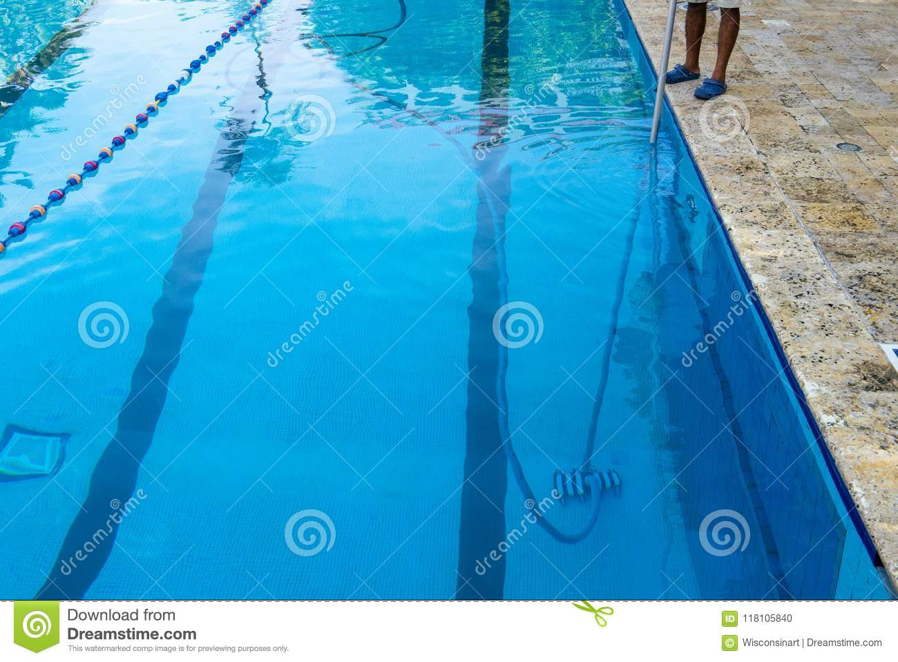 Swimming Pool Boy, Clean, Cleaning Stock Photo - Image of ...