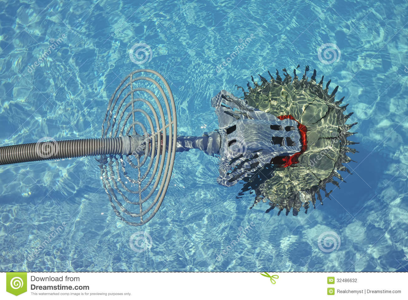 Swimming Pool Cleaner Robot Stock Photography Image