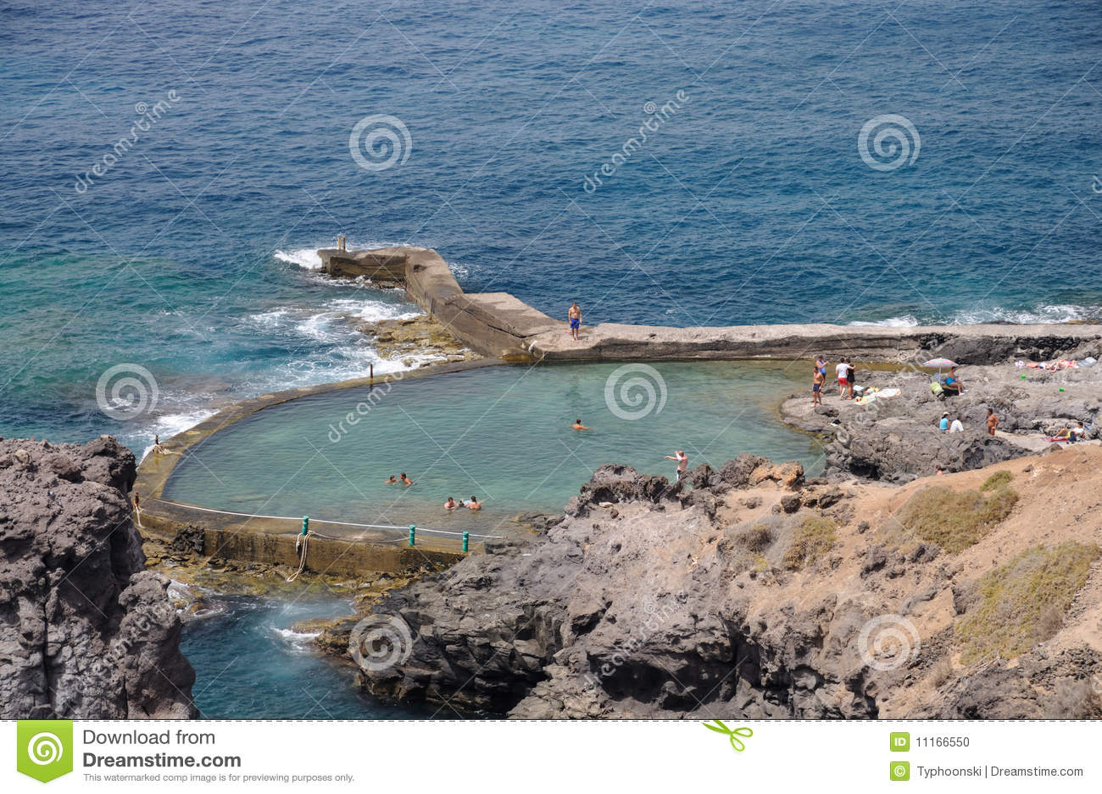 Swimming Pool On The Coast Stock Photo Image 11166550