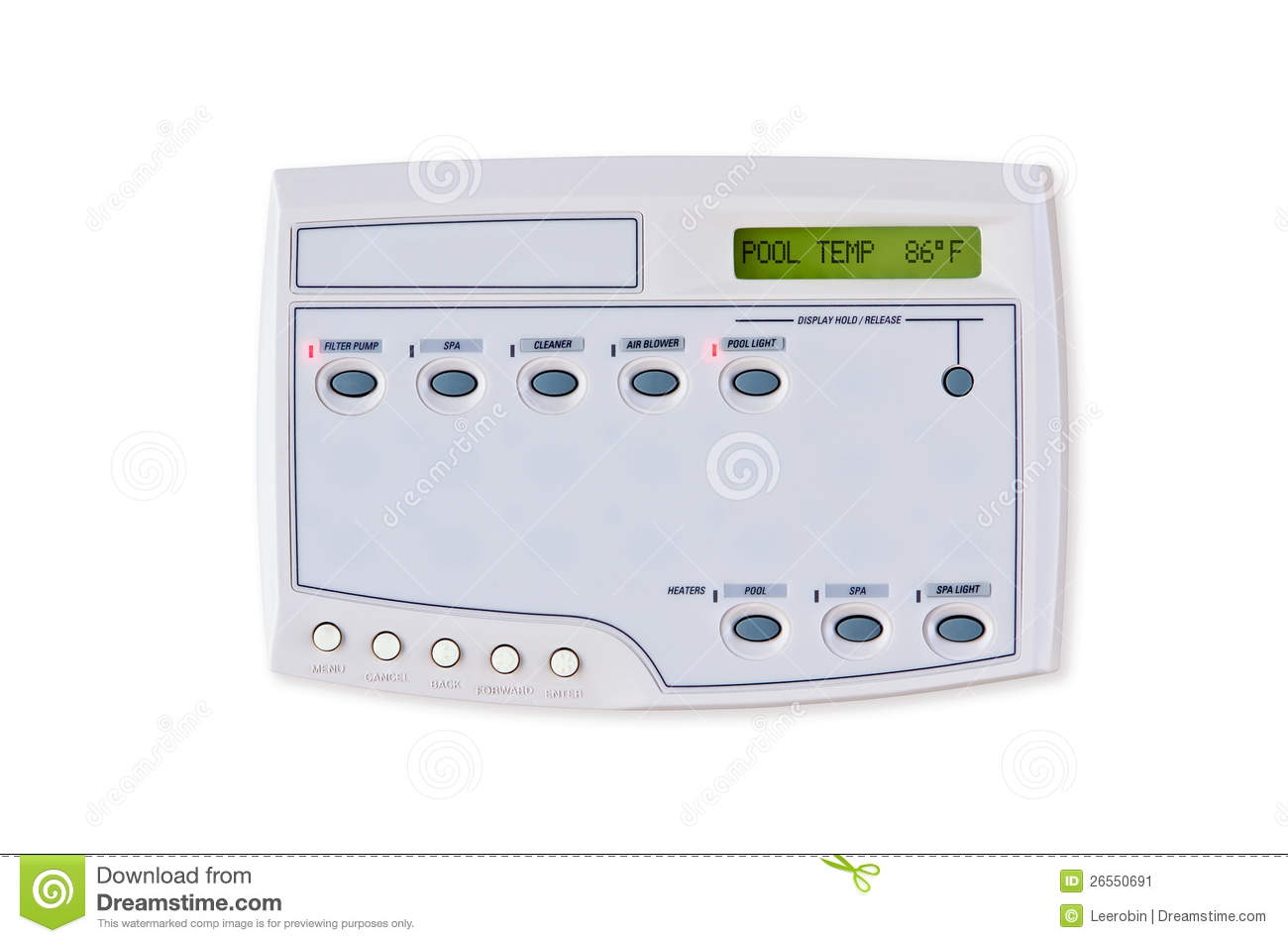 Swimming Pool Control System Stock Image Image 26550691