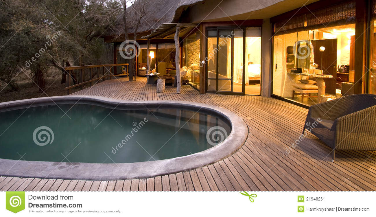 Swimming pool on a deck