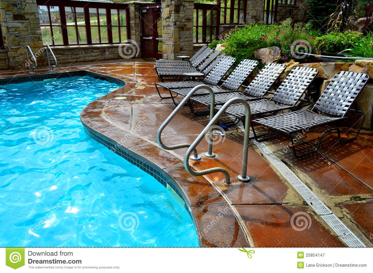 Swimming Pool And Deck Chairs Stock Image Image 25854147