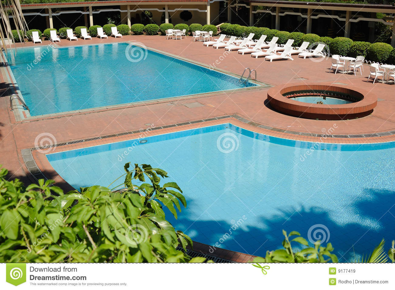 Swimming Pool And Deck Chairs Stock Image - Image of spring, design ...