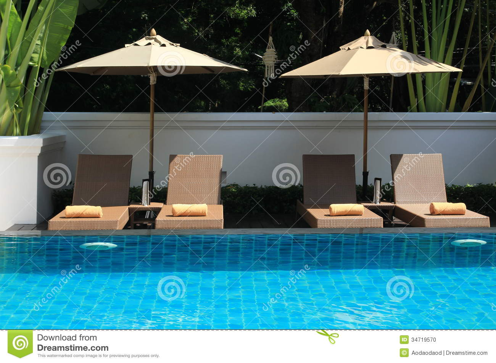 Swimming pool stock photo. Image of estate, real, brick - 34719570