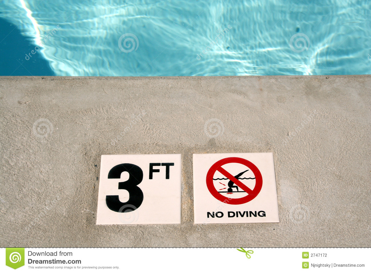 Swimming Pool Depth Marker Stock Photography Image 2747172