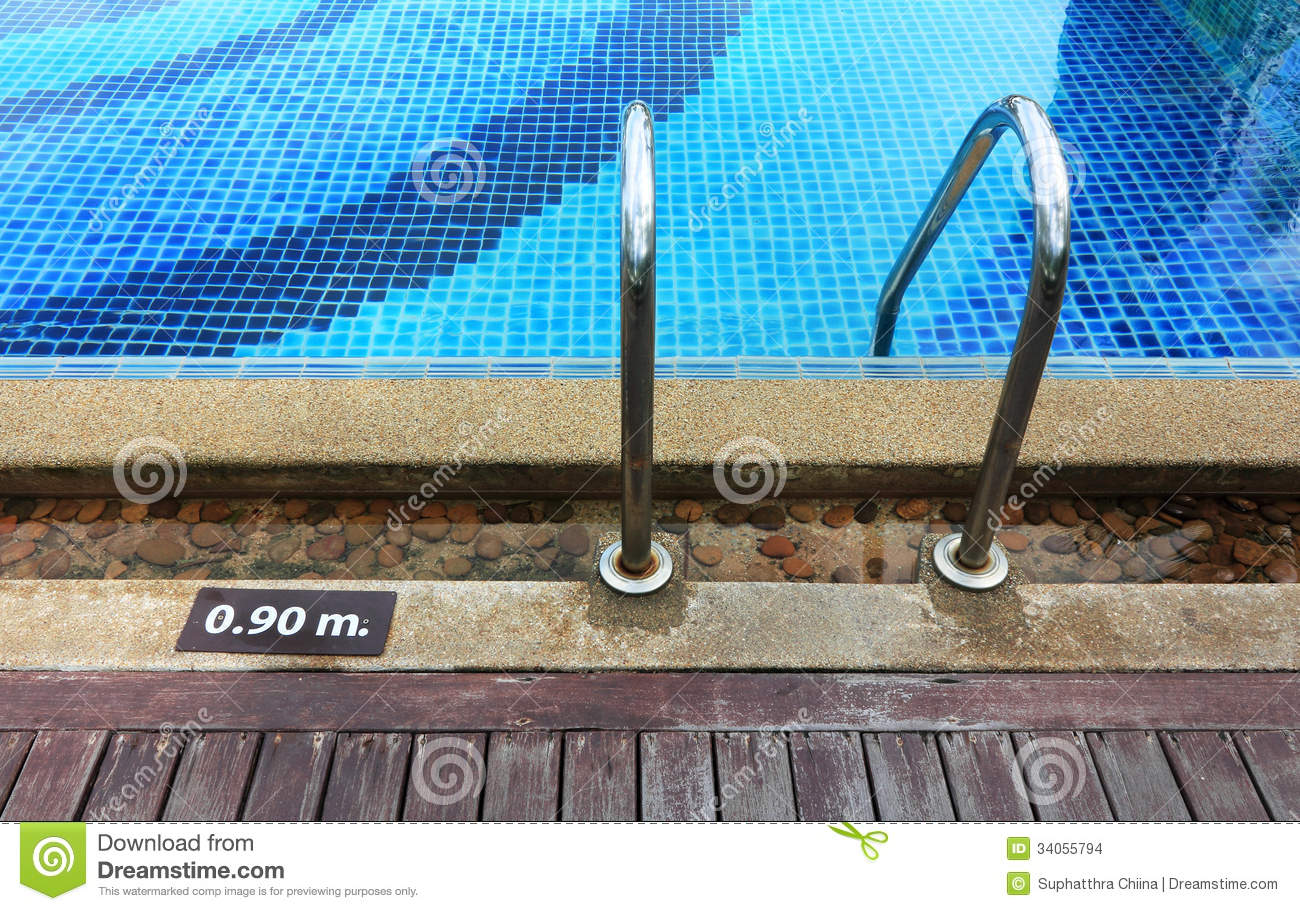 Swimming Pool Depth Marker Stock Images Image 34055794