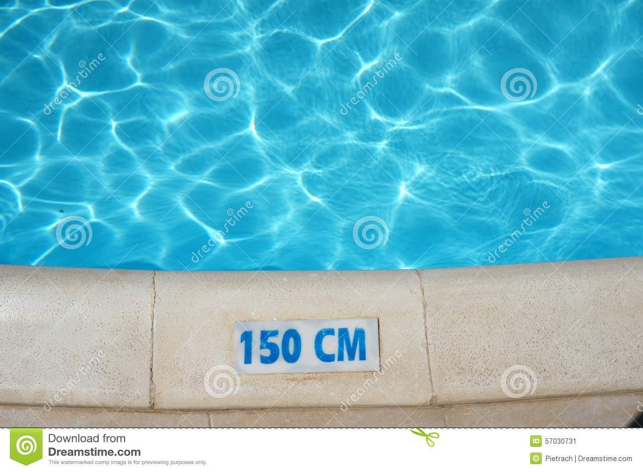 Swimming Pool Depth Safety Sign Stock Photo Image 57030731