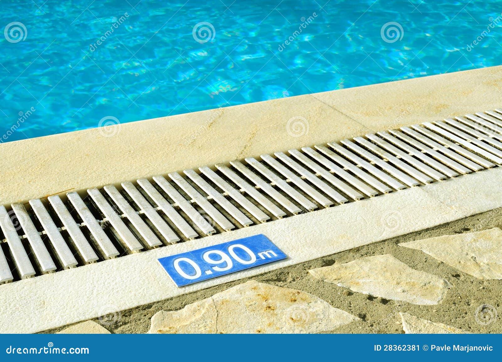 Swimming Pool Depth Sign Stock Image Image Of Swimming 28362381