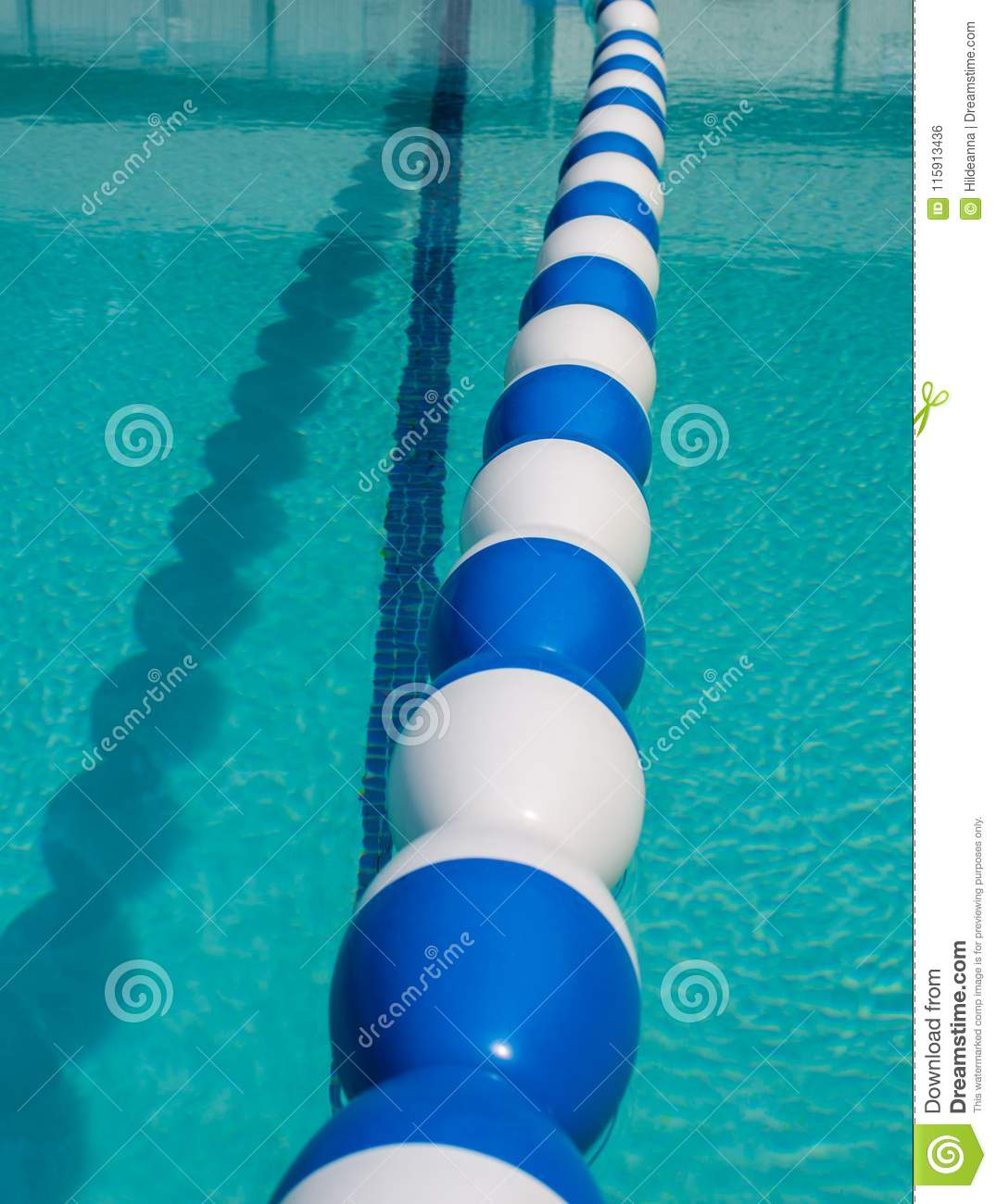 Swimming Pool Divider Floats. Stock Photo - Image of float ...