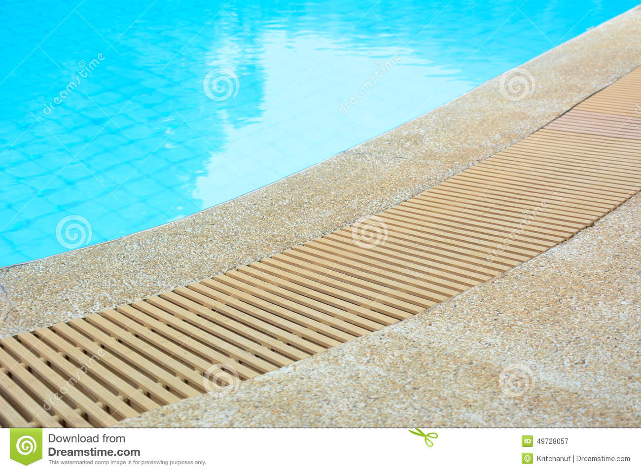 Swimming Pool Edge With Drain Stock Photo Image 49728057