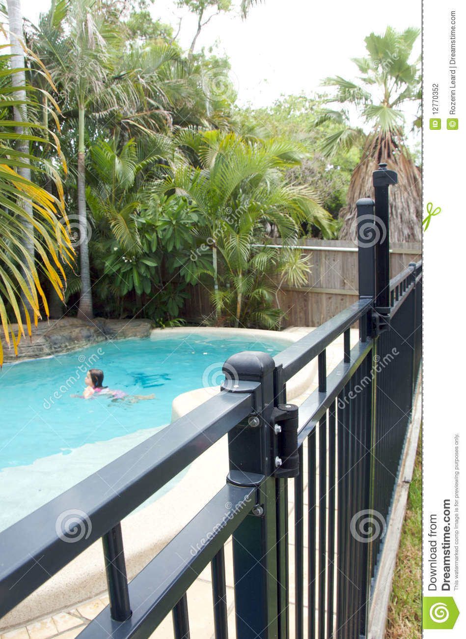 Swimming Pool Fence Stock Photo Image Of Protection 12770352