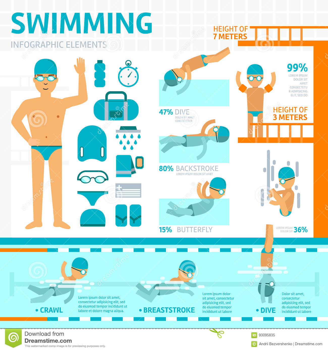 Backstroke Cartoons Illustrations Vector Stock Images 197 Pictures To Download From