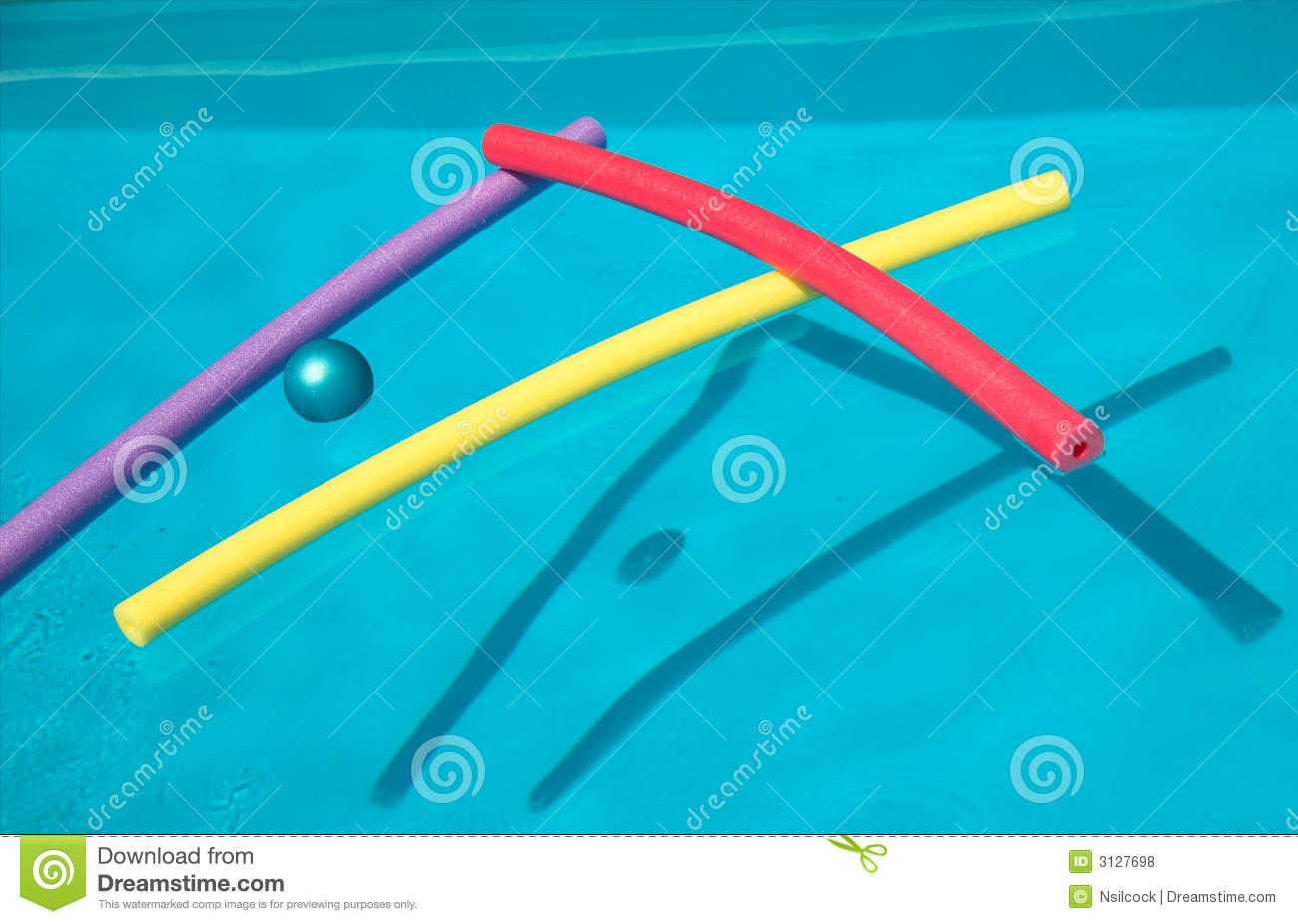 Swimming Pool With Floats Royalty Free Stock Photos Image 3127698