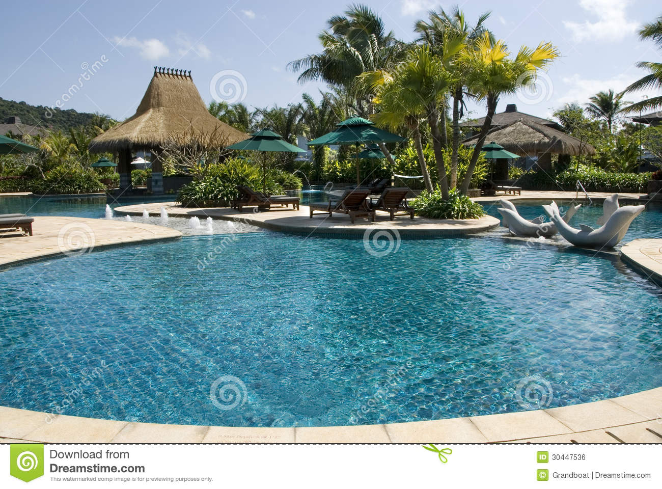 Swimming Pool The Fresh And Cool World Is In China Davao Islands Stock Photo Image 30447536