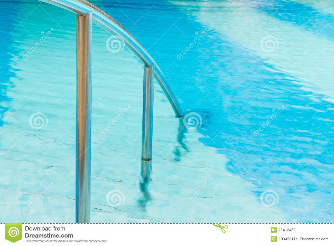Swimming Pool With Hand Rails Royalty Free Stock Photos