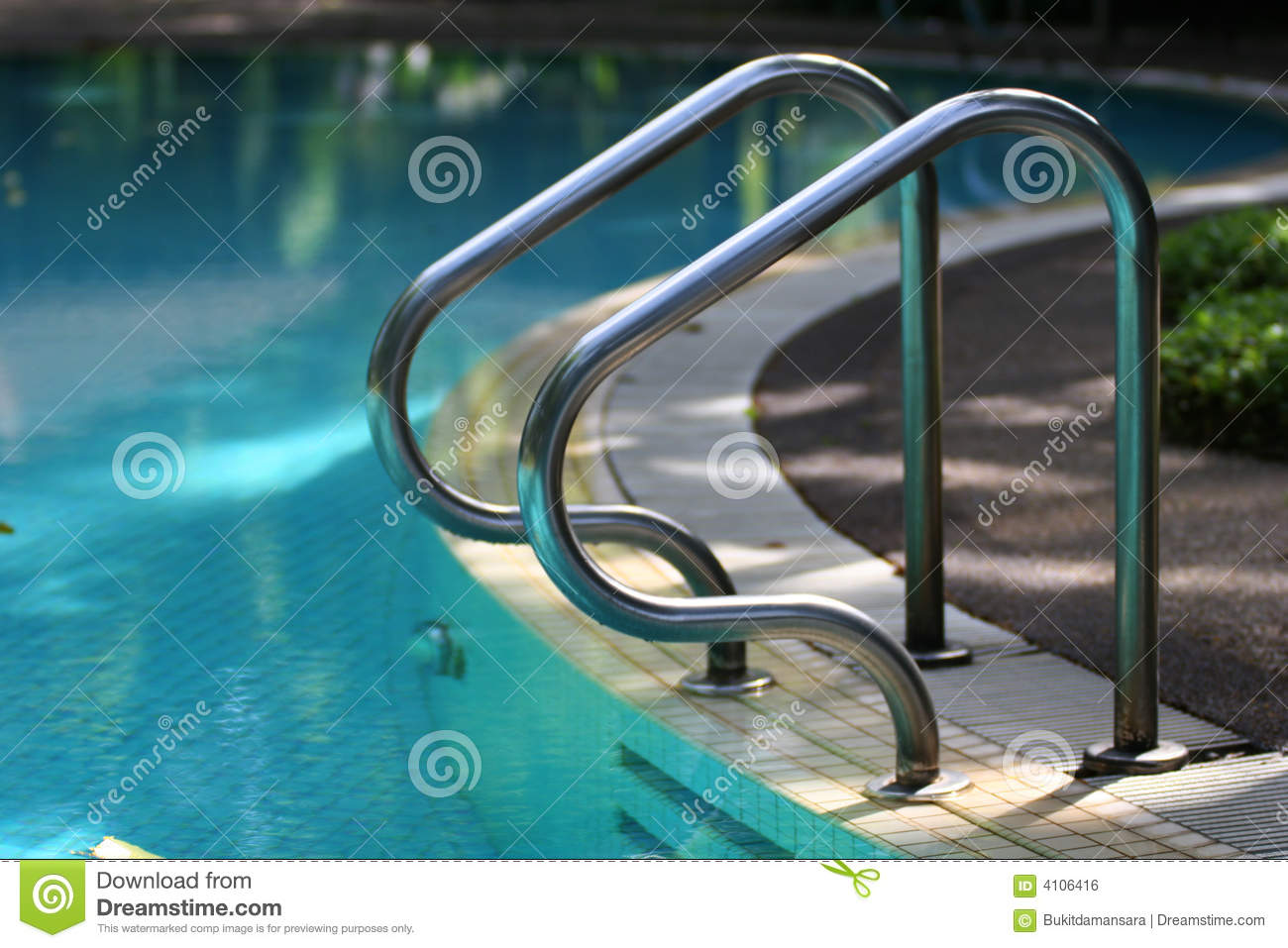 Swimming Pool Handrail Royalty Free Stock Image Image