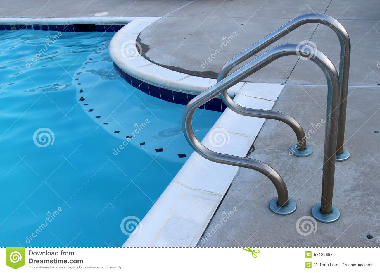 Swimming Pool Handrails Stock Photo Image 58129697