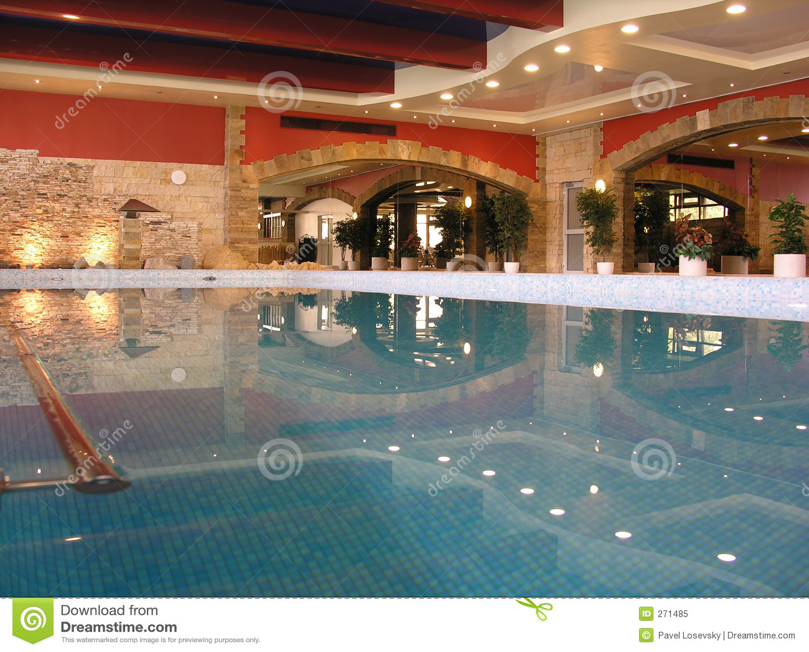 Swimming pool in health club