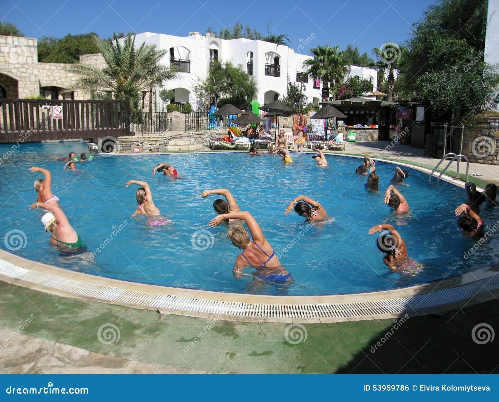 Swimming pool in hotel club olea bodrum turkey editorial - Club mahindra kandaghat swimming pool ...