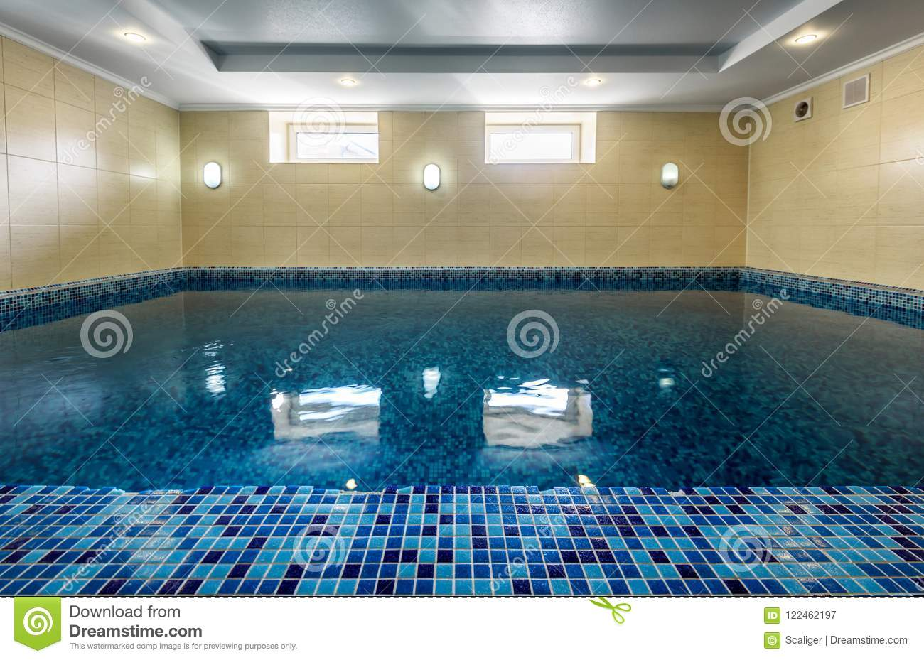 Swimming Pool In Hotel Or Residential House Stock Image ...