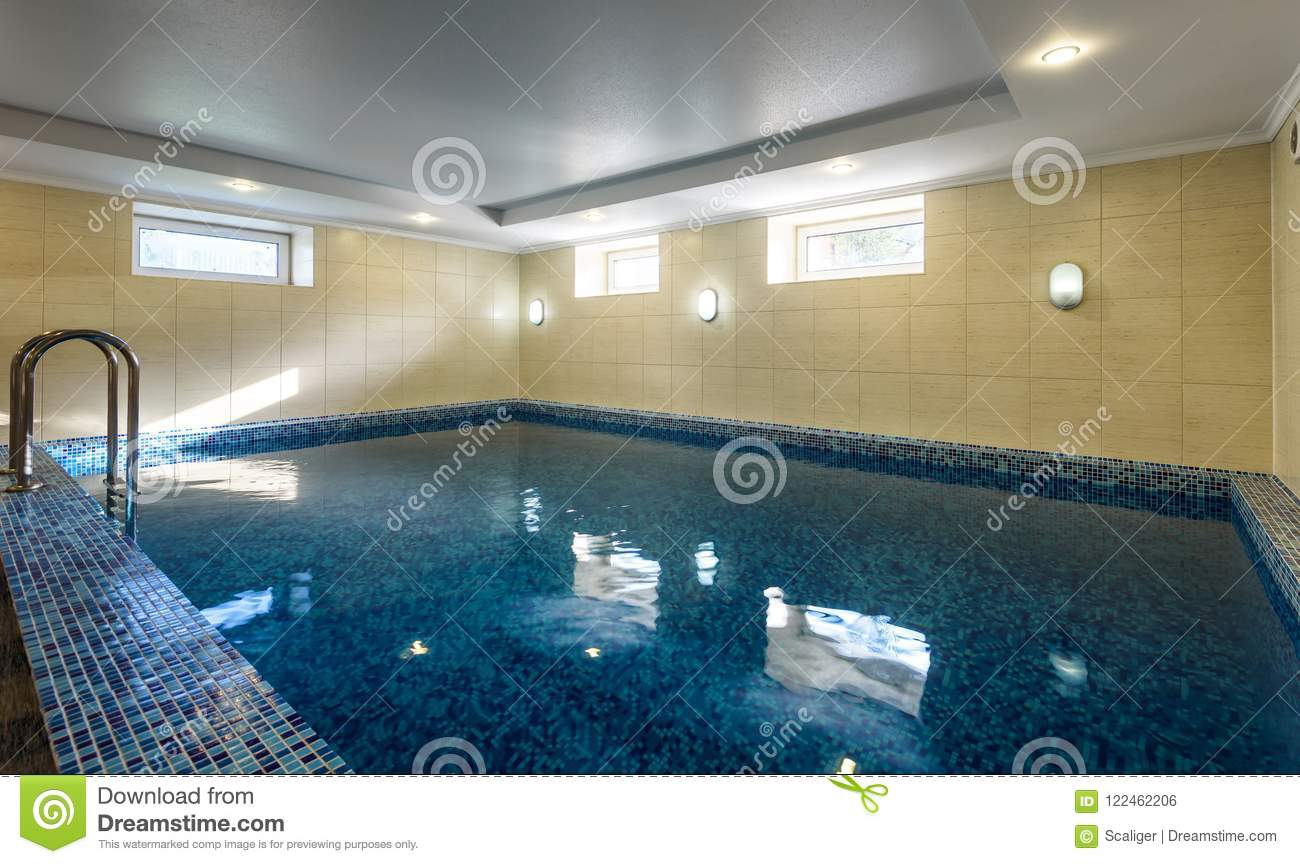 Swimming Pool In Hotel Or Residential House Stock Photo ...