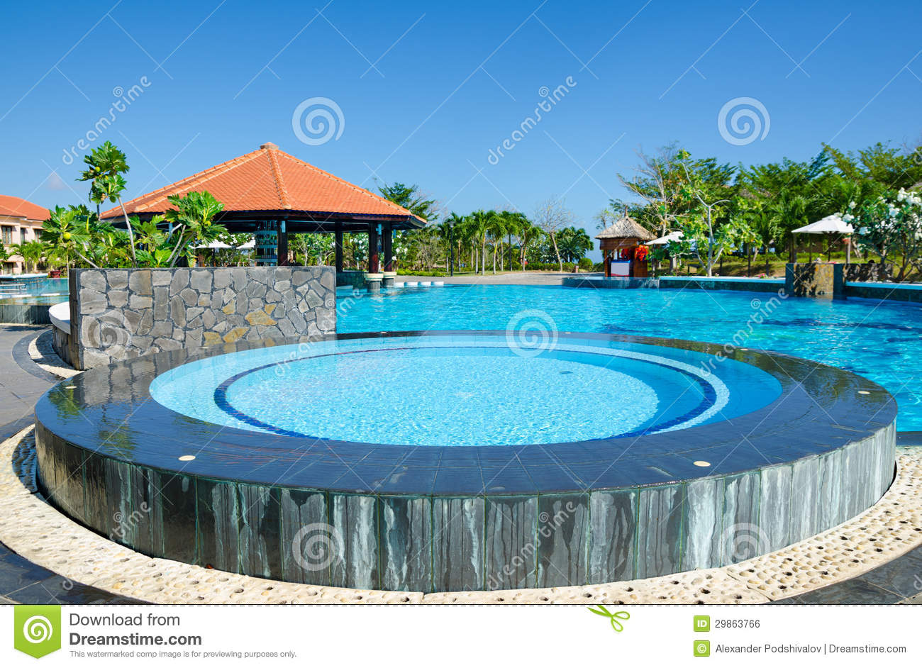Swimming pool near hotel royalty free stock image image 29863766 for Swimming pools open today near me