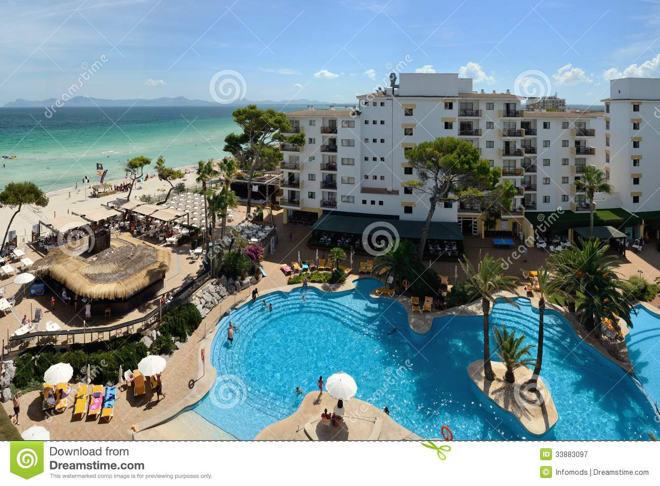 Swimming Pool Of The Iberostar Alcudia Park In Alcudia Editorial Photography Image Of