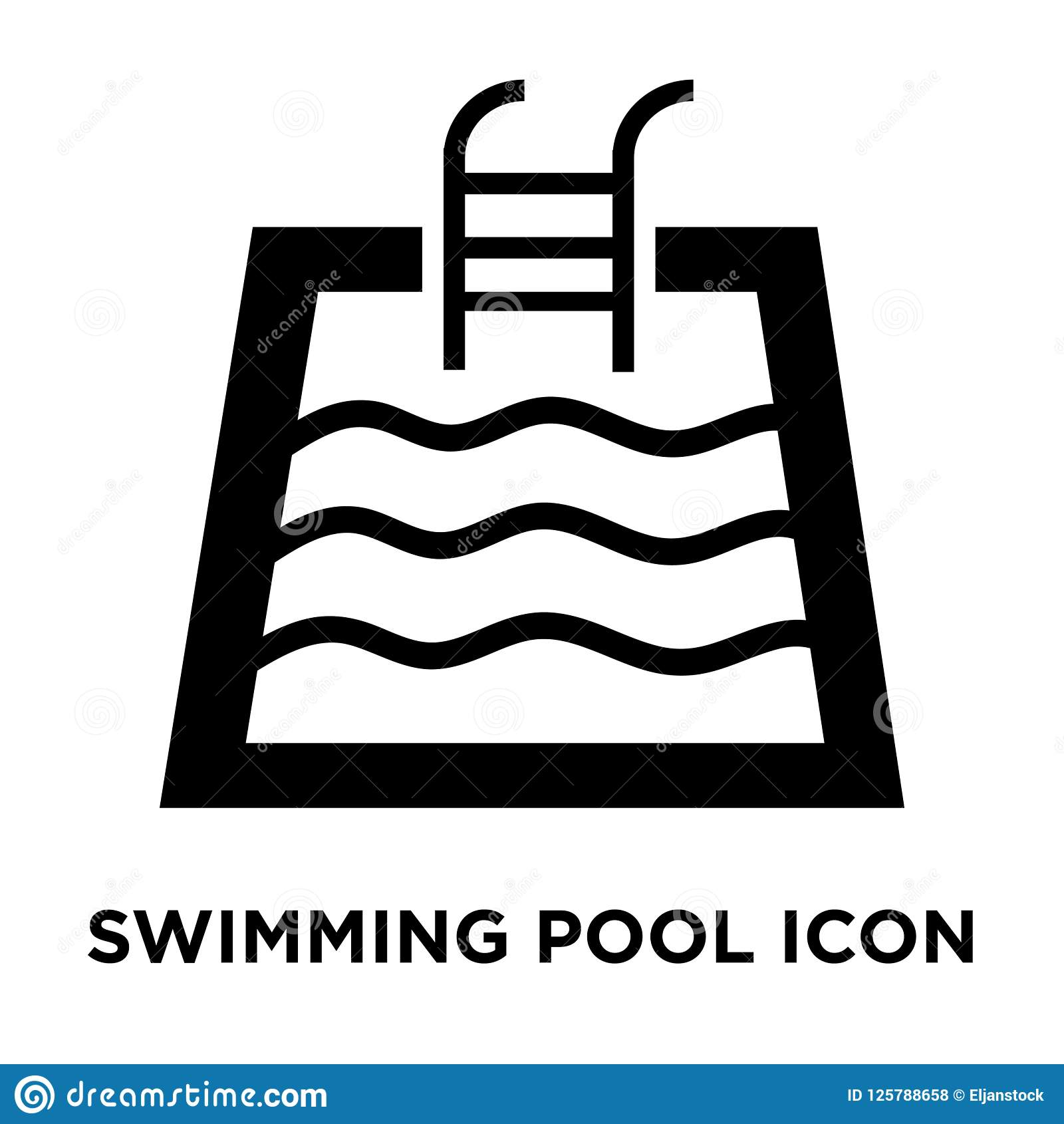 swimming pool icon vector isolated on white background, logo con stock  vector - illustration of sport, healthy: 125788658  dreamstime.com