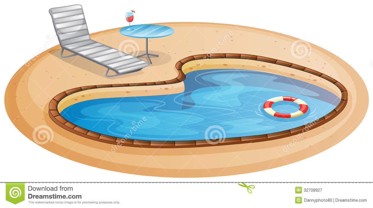 A swimming pool stock vector image of metallic for Swimming pool sketch