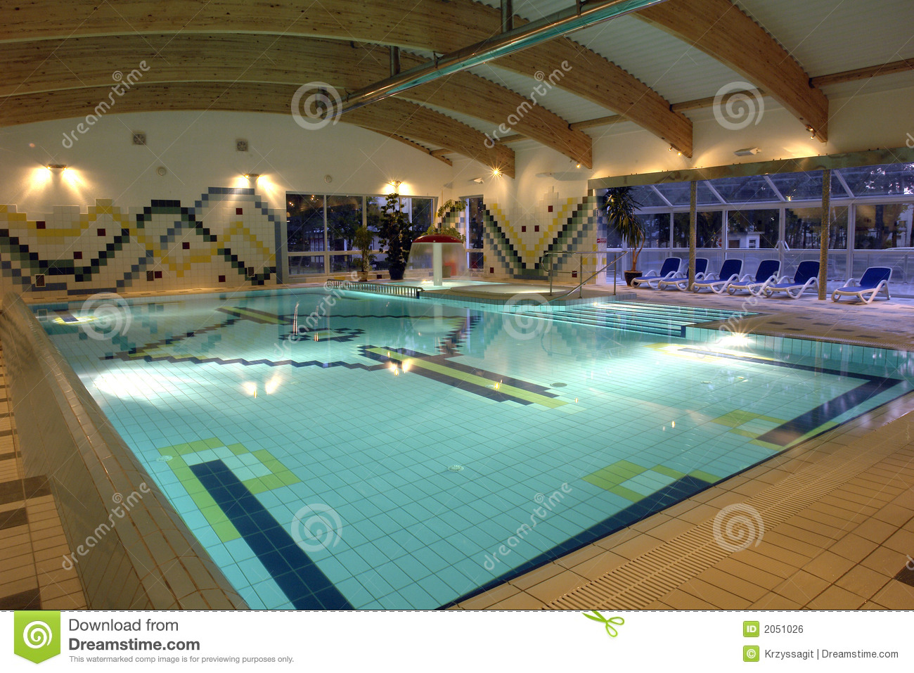 Swimming Pool Indoor Empty Royalty Free Stock Image