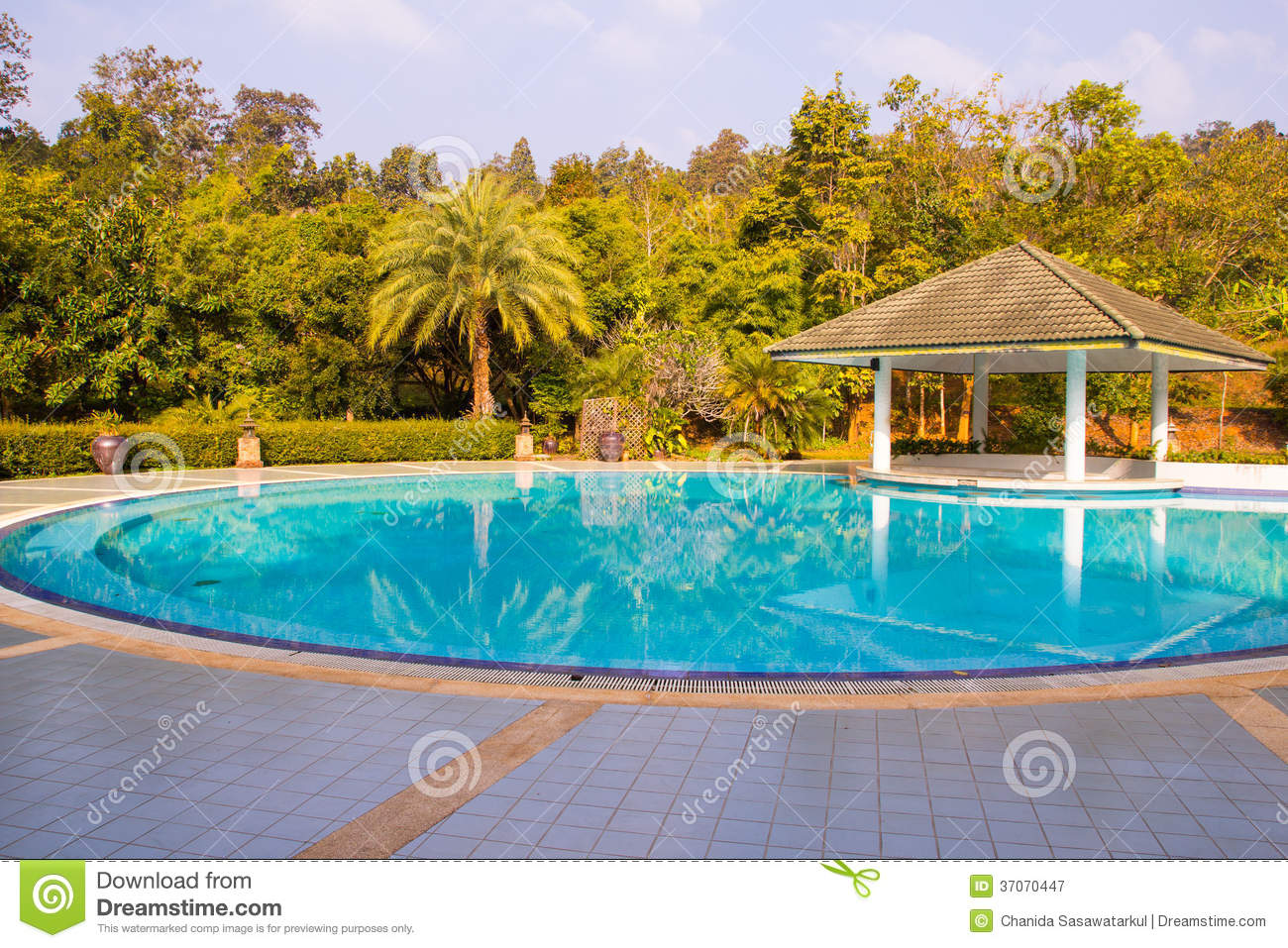 Swimming pool inside garden royalty free stock photography for Pool garden resort argao