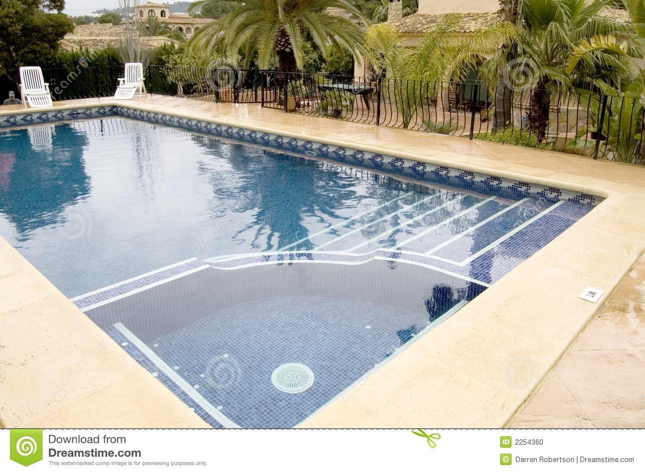 Swimming pool with jacuzzi stock photo image 2254360 for Swimming pool with jacuzzi design