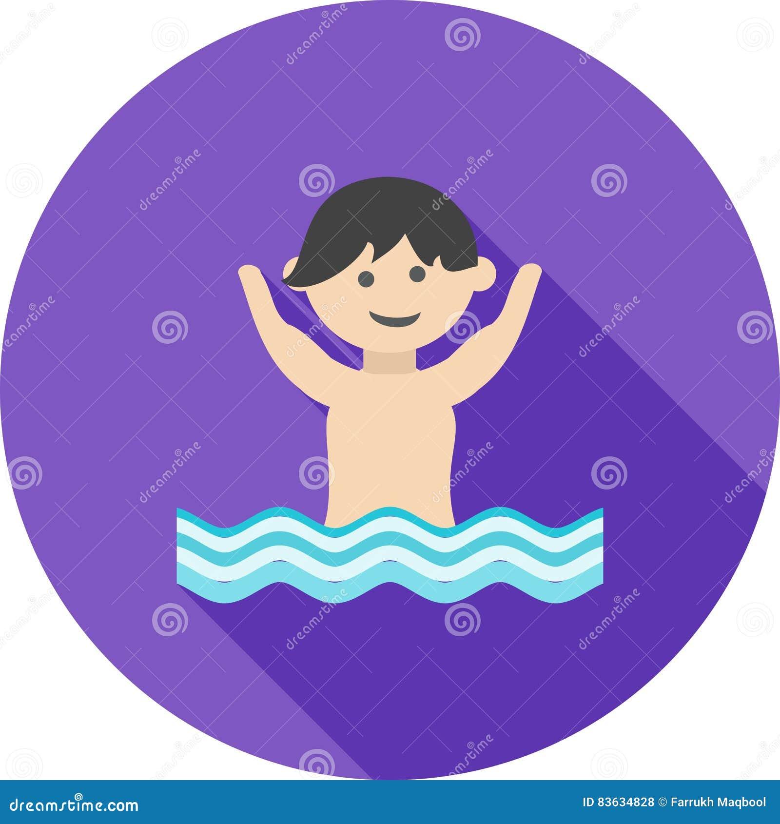 Swimming stock vector. Illustration of summer, pool, blue - 83634828