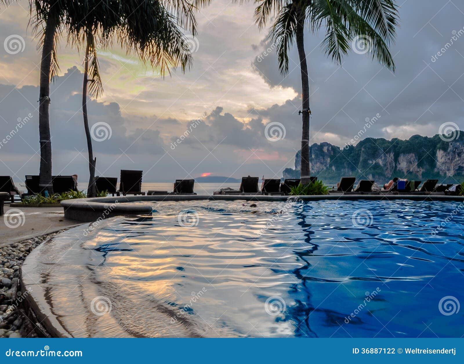 Swimming Pool On Krabi Railay Beach Stock Photography Image 36887122