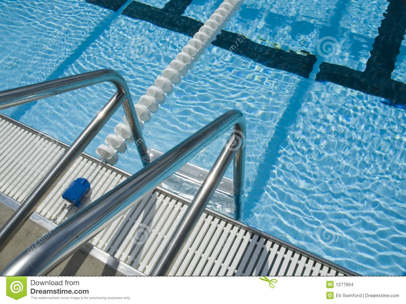 Swimming Pool Ladder Stock Images Image 1277604