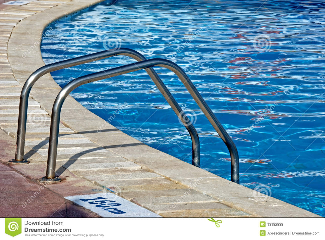 Ladder in swimming pool royalty free stock photography for Swimming pool dealers