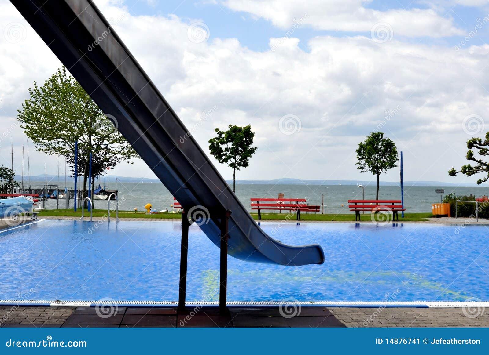 Swimming Pool By Lake Stock Image Image 14876741