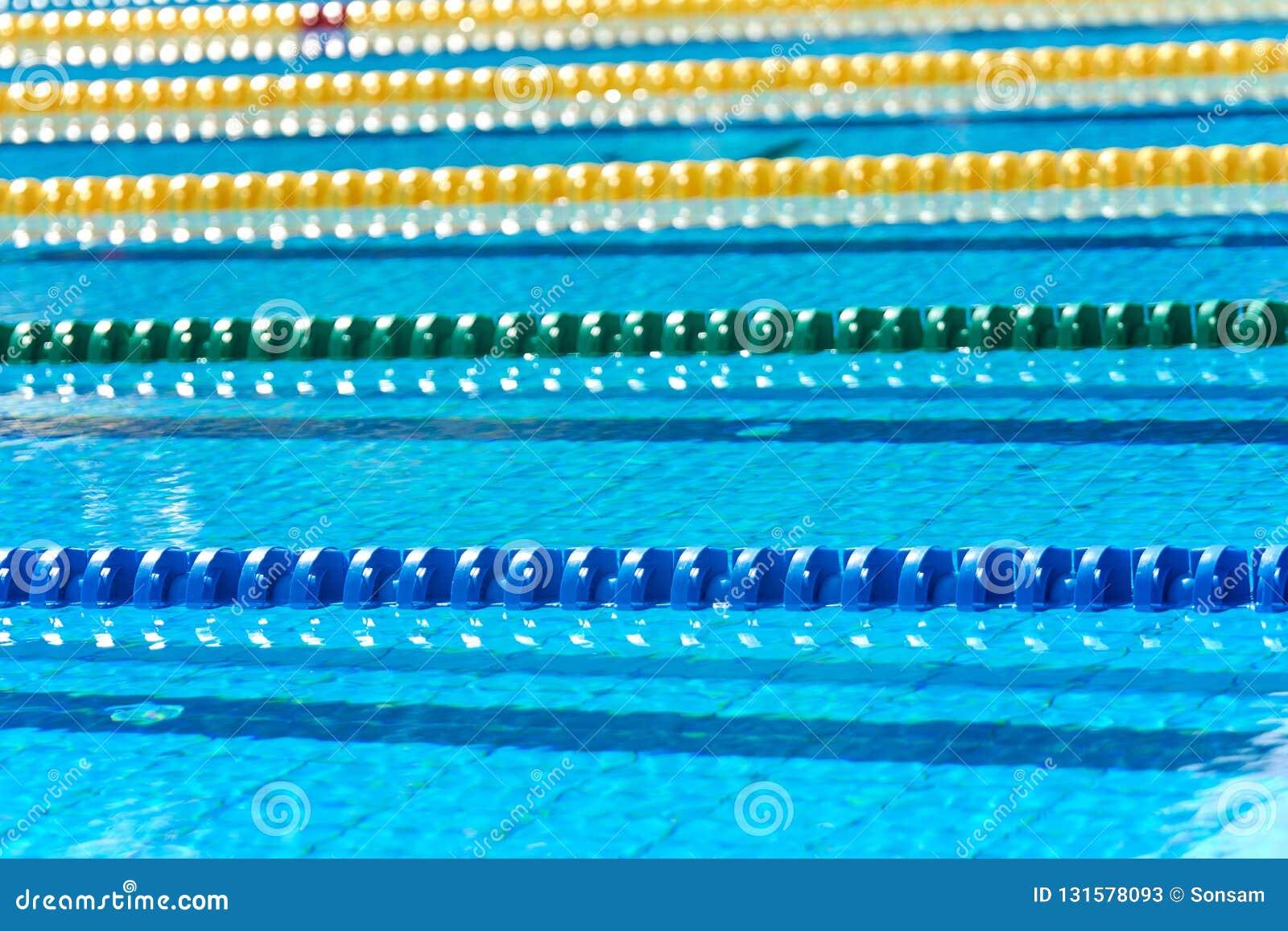 Swimming pool - lane lines stock image. Image of horizontal ...