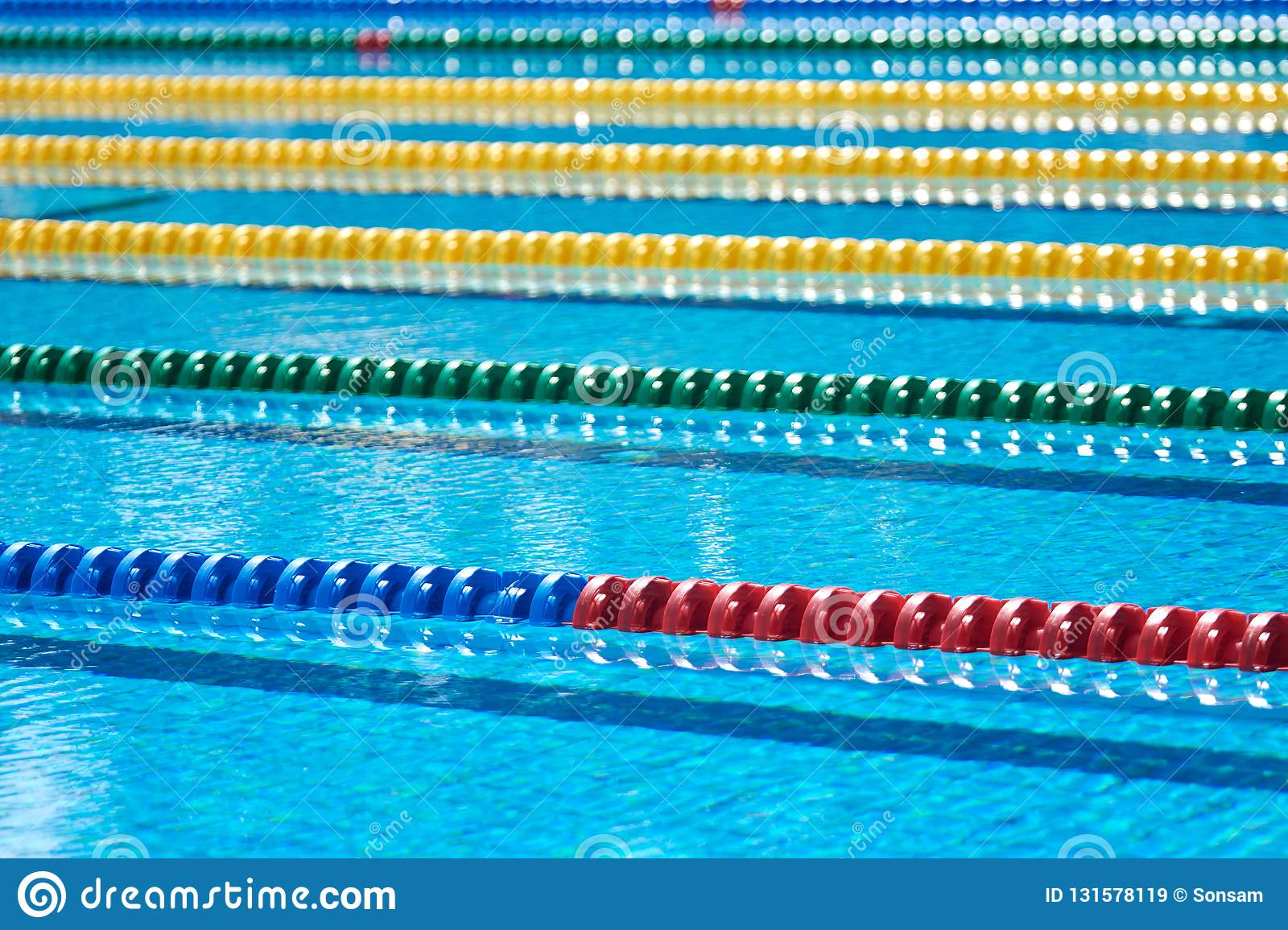 Swimming pool - lane lines stock image. Image of activity ...