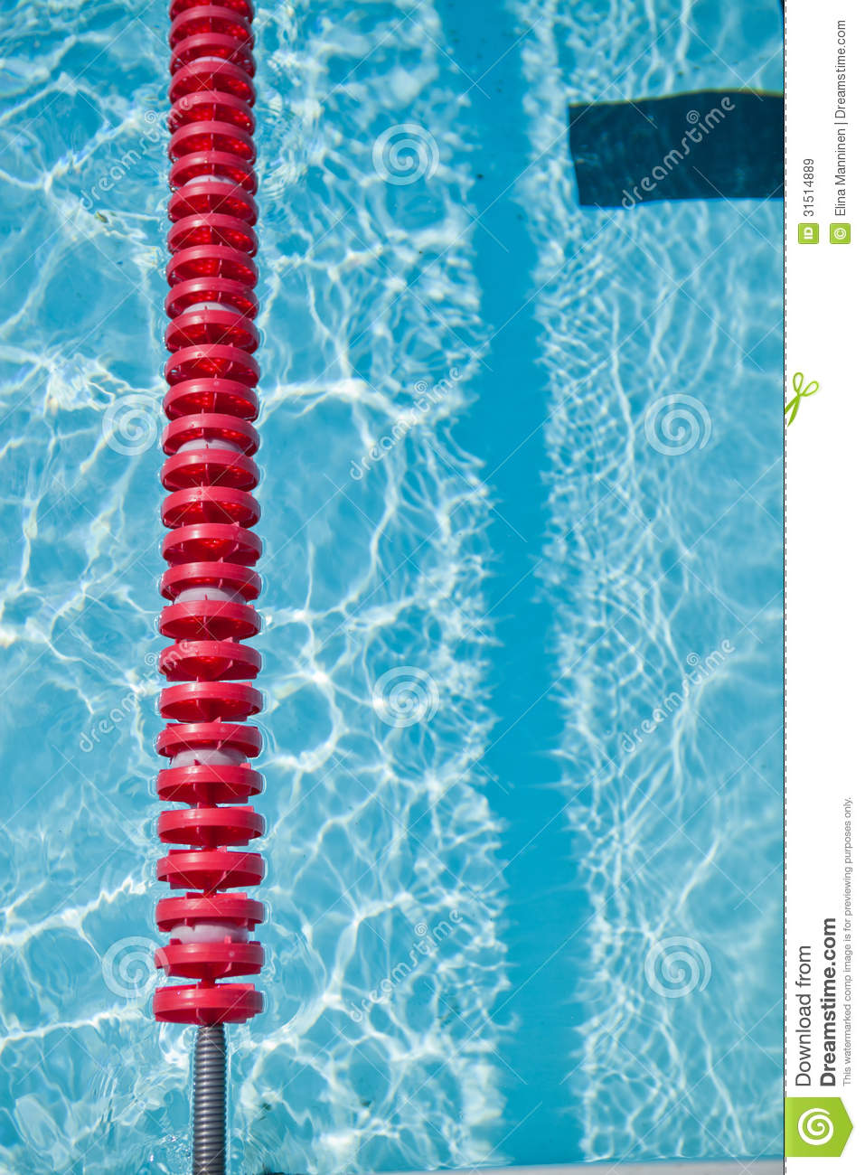 Swimming Pool And Lane Rope Stock Image Image 31514889
