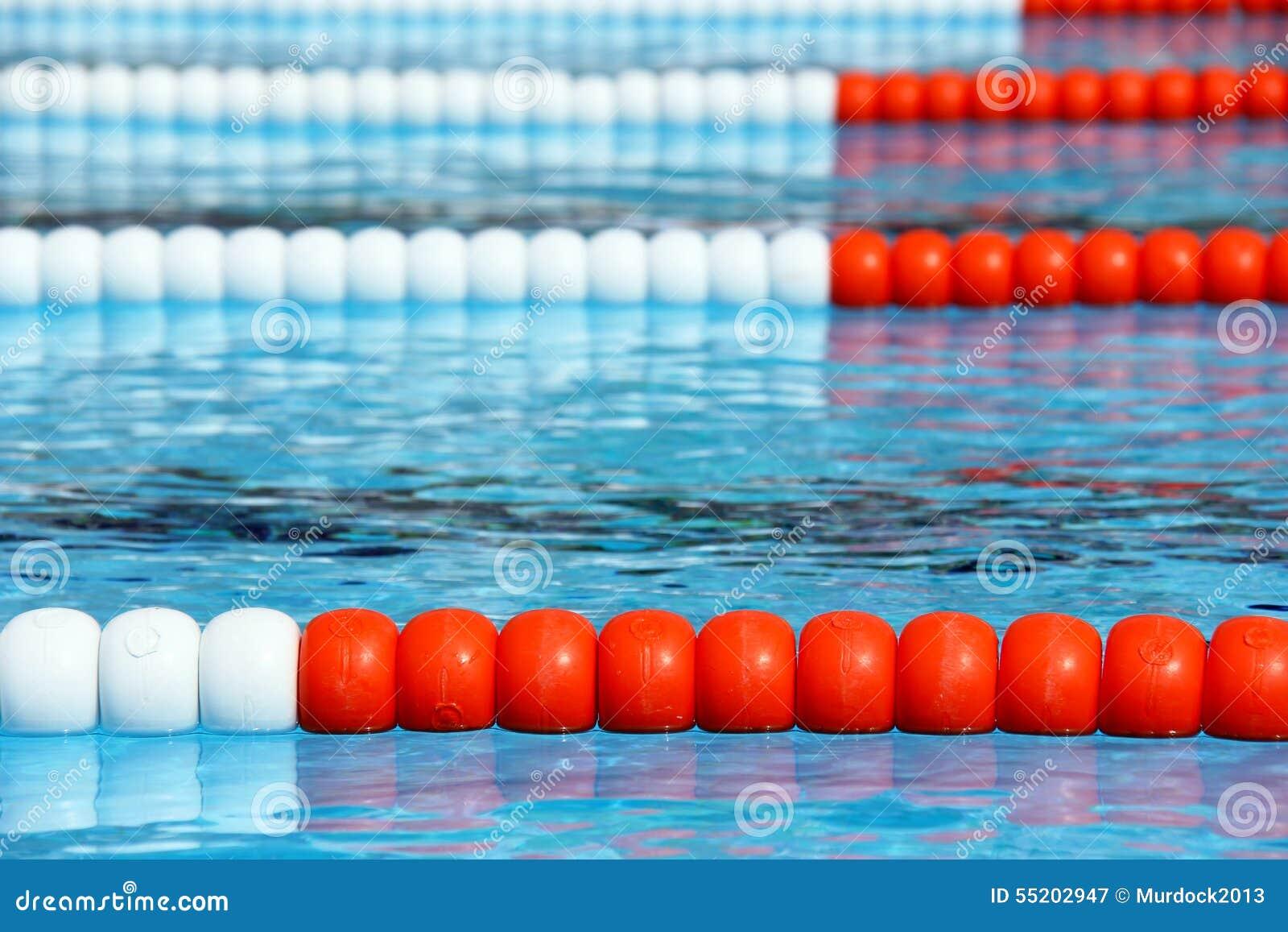 Swimming Pool Lanes Stock Photo Image 55202947