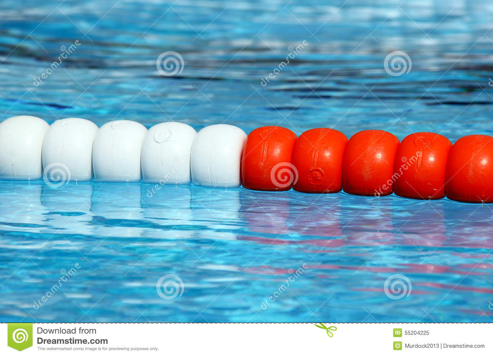 Swimming Pool Lane Ropes Stock Photo Image 55204225